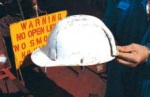 Damaged Hard Hat