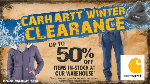 Carhartt Winter Clearance