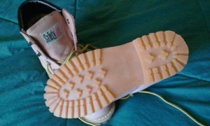safety girl boots sole