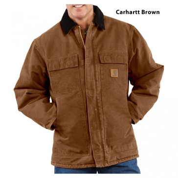 cgchc26_-00_carharrt-brown_front_carhartt-mens-coat-traditional-sandstone-arctic-quilt-lined