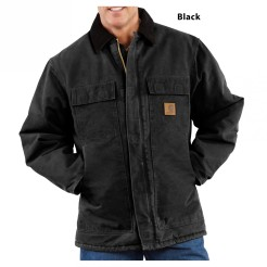 cgchc26_-04_black_front_carhartt-mens-coat-traditional-sandstone-arctic-quilt-lined